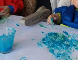 peinture maison avec colorants alimentaires