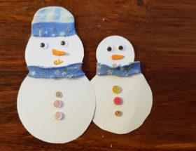 Bricolage les bonhommes de neige