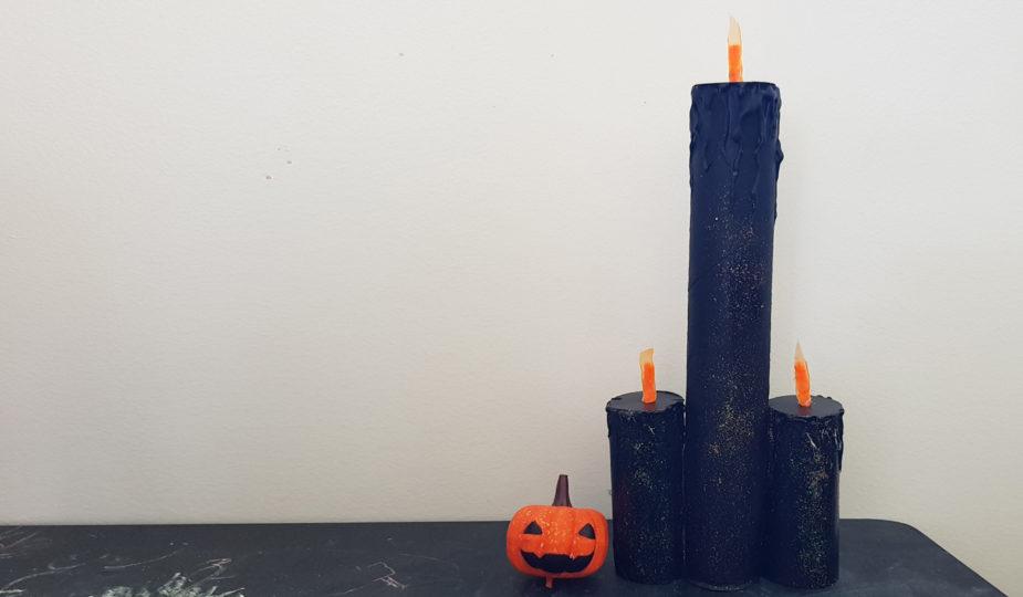 DIY de bougies pour Halloween
