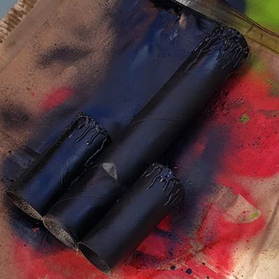 Peinture aérosol pour fausse bougie