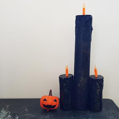 DIY bougies halloween