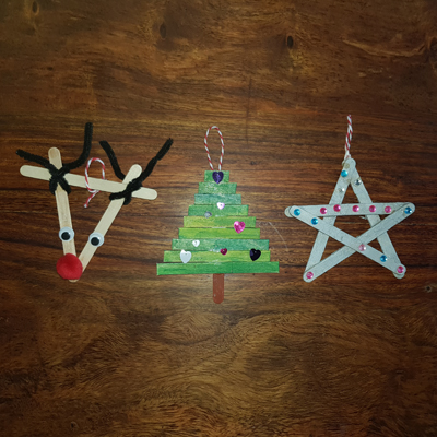 3 décorations à suspendre à créer pour Noel