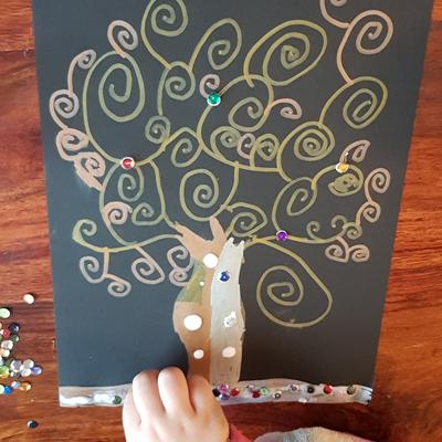 dessin arbre de vie inspiration Klimt