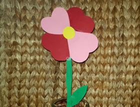 diy fleur cœur en papier