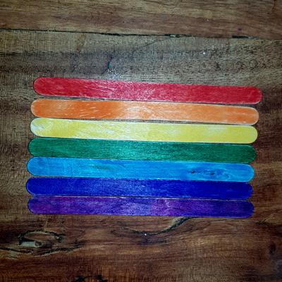 bâtonnets en bois pour jeu