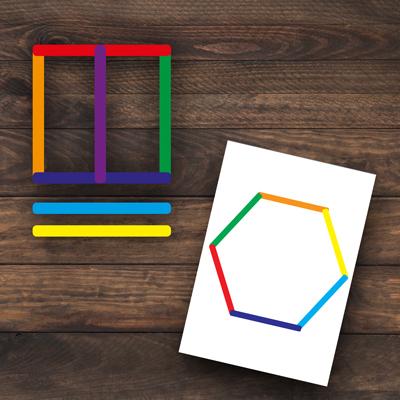notions spatiales avec les bâtonnets de couleurs