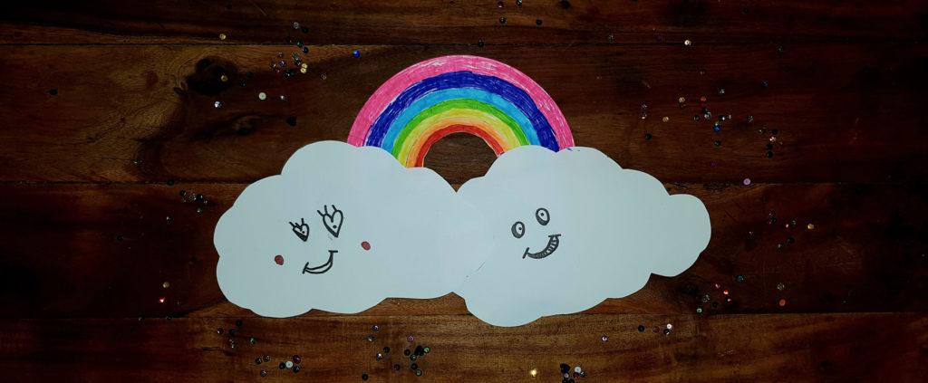nuages amoureux décoration kawaii à créer