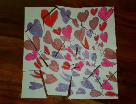 DIY puzzle saint valentin