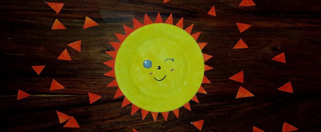 créer un soleil kawaii avec des rayons qui tournent