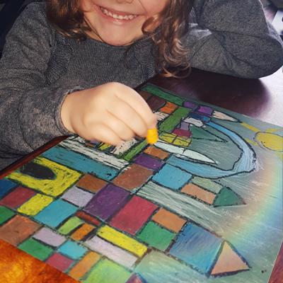 œuvre d'enfant inspiration paul klee maternelle