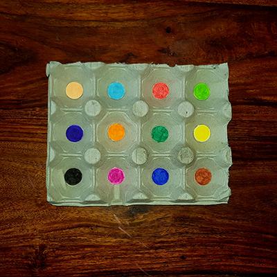 pastilles de couleurs pour jeu des couleurs