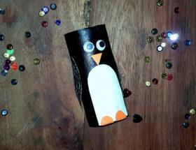 diy craft manchot pingouin au rouleau de papier toilette