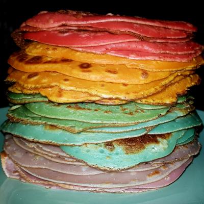recette crêpes multicolores pour anniversaire licorne