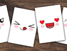 lot de 16 cartes kawaii à imprimer