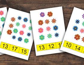 cartes de dénombrement à imprimer et télécharger