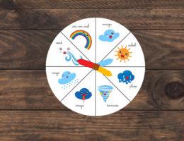 roue de la météo à télécharger et imprimer