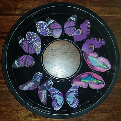 papillons dans un moule à gateau