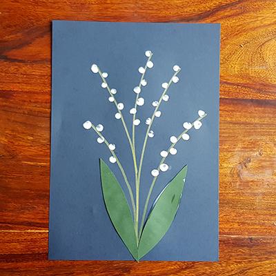 feuille en papier pour fleur muguet