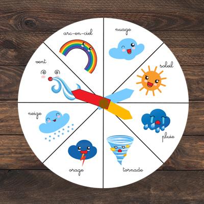 roue de la météo pour les enfants