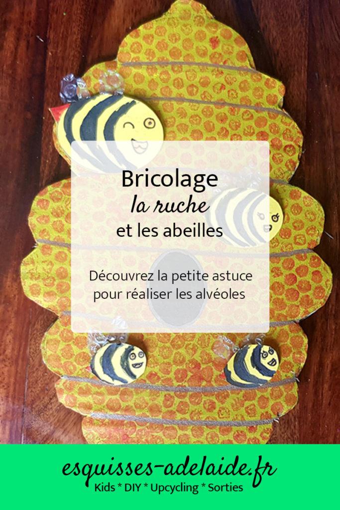 Bricolage la ruche et les abeilles. Découvrez l'astuce pour réaliser les alvéoles