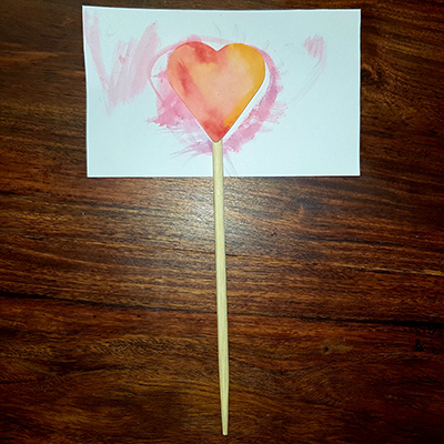 baguette coeur sur carte fête des mères