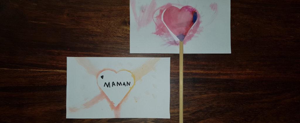 création d'un carte coeur et d'une fleur coeur