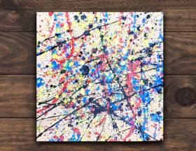 A la manière de Pollock pour les maternelles