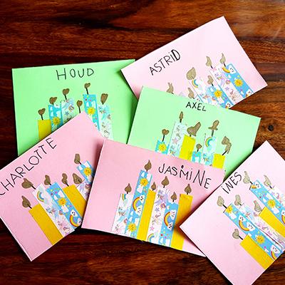 création de carte d'anniversaire au masking-tape