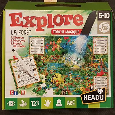 Explore la forêt, le puzzle Headu, pour les enfants de 5 à 10 ans