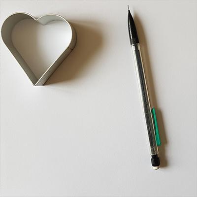 matériel pour la carte coeur