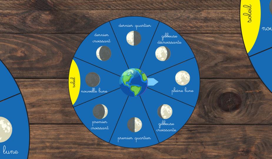 diy pour enfant roue des phases de la lune