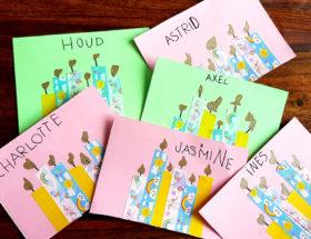 tuto pour réaler des cartes d'anniversaire avec du masking tape