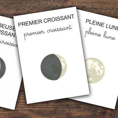 cartes imagier les phases de la lune