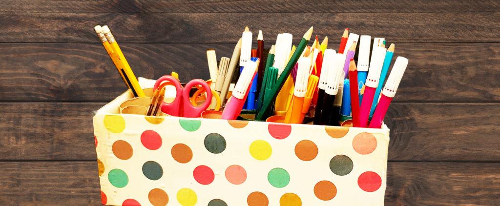 Tuto boite de rangement crayon et feutre