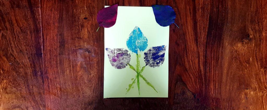 tuto bouquet de fleurs avec peinture feuille arbre