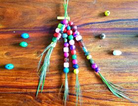 kids creation : création éphémère avec des perles