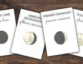 kit cartes imagiers à imprimer les phases de la lune