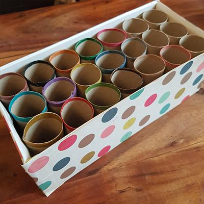DIY boite de rangement crayon et feutre