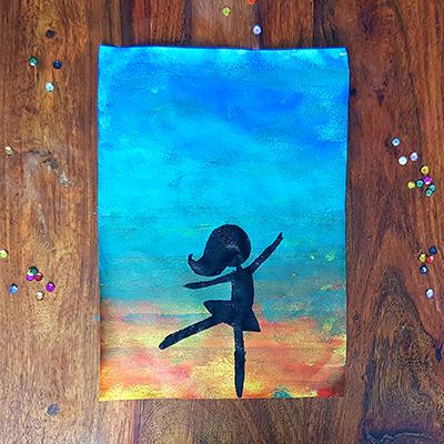 peinture danseuse étoile pour enfant