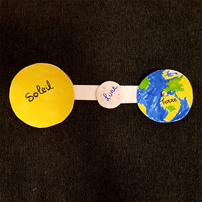création eclipse solaire pour enfant