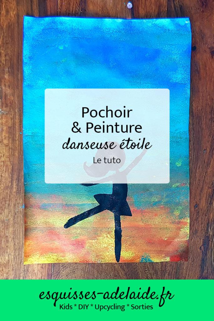 peinture danseuse et la technique du pochoir