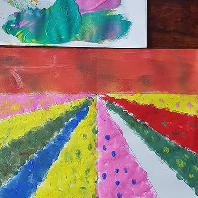 tableau fleurs des champs