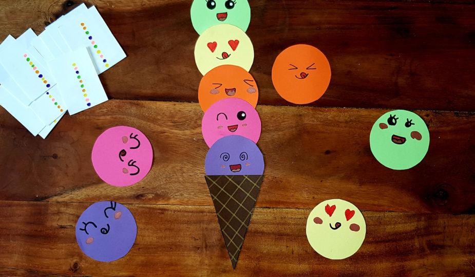 DIY jeu d'observation les boules de glace pour les enfants