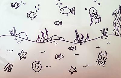 dessin poissons