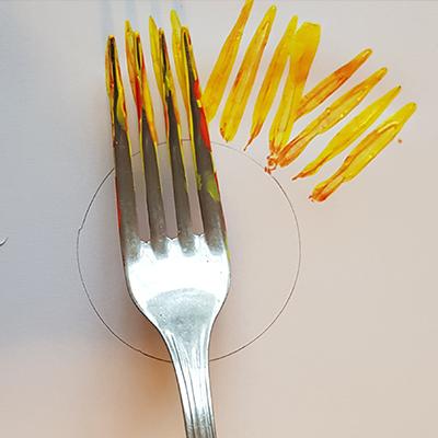 pétales de tournesol à la fourchette