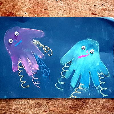 Dessiner des méduses, un atelier pour les enfants