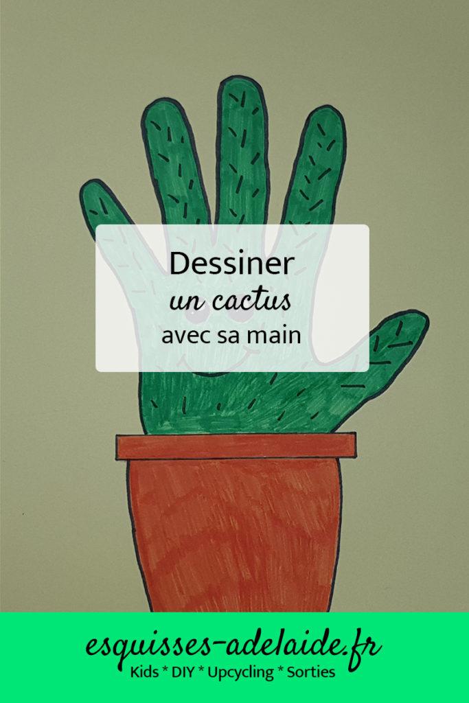 dessiner un cactus avec sa main