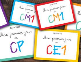 Mon premier jour en CP, CE1, ce2, CM1 CM2