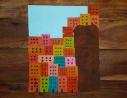 Création enfant, village de cinque terre, italie
