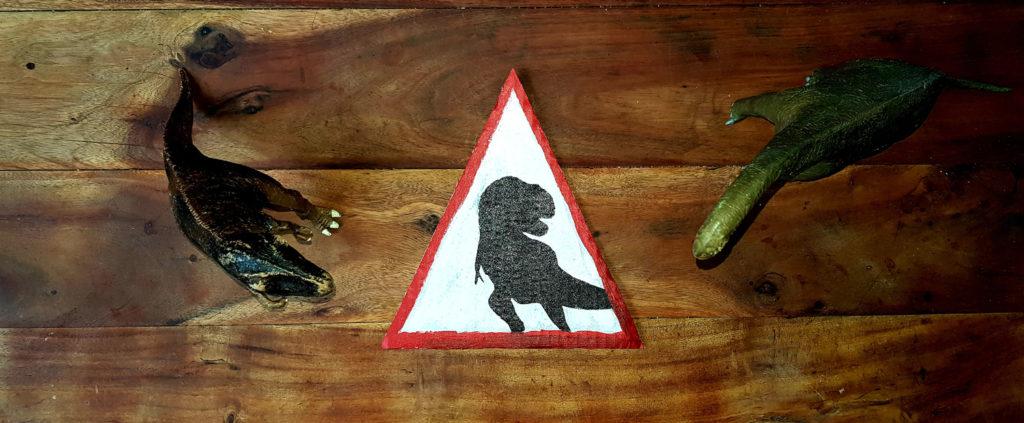 tuto création panneau attention dinosaure